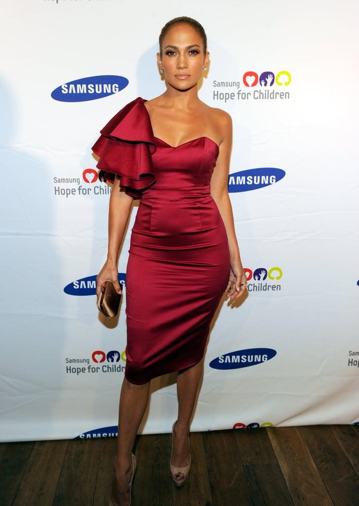 Jennifer Lopez Wearing Temperley London to the 2011 Samsung Hope for Children Gala