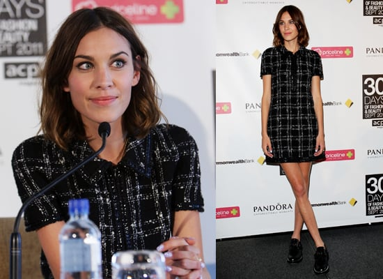 Alexa Chung Press Conference in Sydney For 30 Days of Fashion and Beauty
