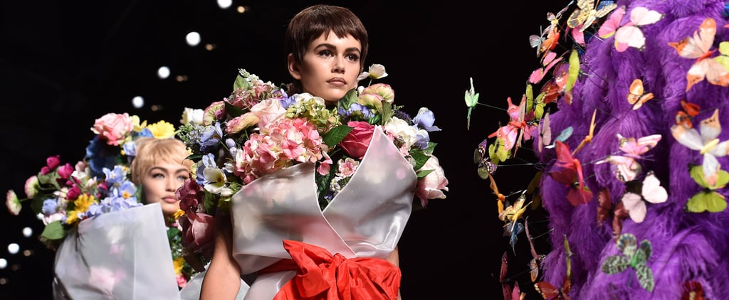 Kaia Gerber Transformed Into a Bouquet of Flowers on the Runway Like It Was NBD