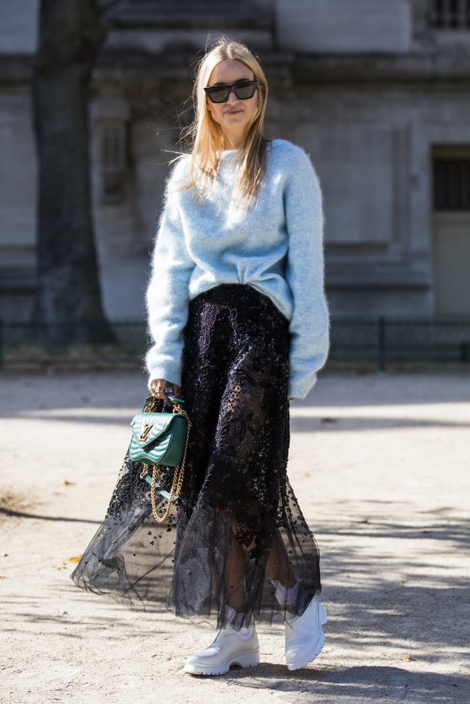 Edgy Black Lace: On The Street