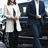Kate Middleton Wearing Cream Goat Coat