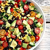 Cucumber, Corn, Black Bean, Tomato, and Avocado Salad
