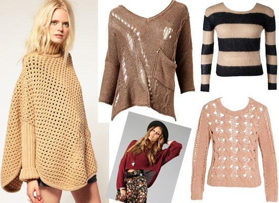 The Top Ten Open Weave Knits: Shop The Coolest Knitted Sweaters Online from ASOS, Sportsgirl, See By Chloes and More!