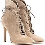 Gianvito Rossi Empire Lace-Up Ankle Boots