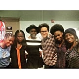 """The Force was strong tonight. Introducing my #starwars family to my #EclipsedPlay family was precious. Thank you, #JJAbrams for coming to see us on stage. #maytheforcebewithyou #theforceawakens @starwars @publictheaterny #ForceFriday"""