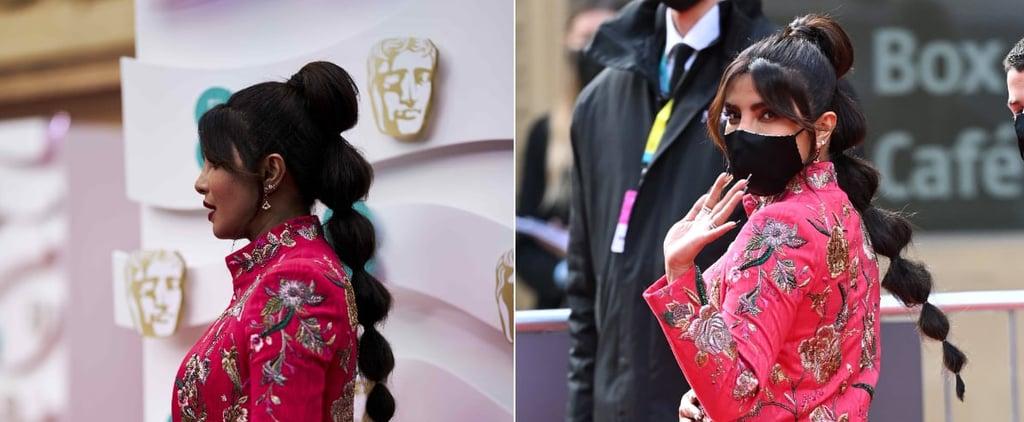 BAFTA Awards 2021: Priyanka Chopra's Bubble Braid Hairstyle