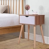 Jaxpety Mid-Century Wooden Nightstand Side End Table