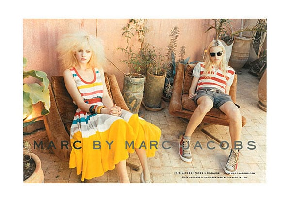 Andrej Pejic (right) shot by Juergen Teller for Marc by Marc Jacobs Spring '11 ad campaign. Clearly he is in high demand.