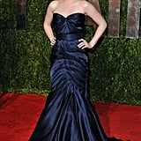 Stewart let her Monique Lhuillier organza gown do all the talking, opting for minimal accessories, at the 2010 Vanity Fair Oscar party in West Hollywood.