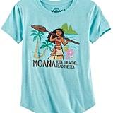 """Disney's Moana """"Ride the Wind, Read the Sea"""" Glitter Graphic Tunic"""