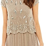 Frock and Frill Yael Two-Tiered Grey Sequin Dress