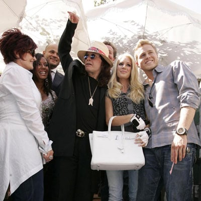 Heidi Montag, Spencer Pratt, Ozzy Osbourne, Sharon Osbourne, Melanie Brown and Stephen Belafonte at The Ivy
