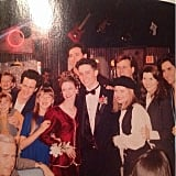 "Andrea: ""#TBT My Senior prom, 1994. The Full House producers rearranged the shooting schedule to shoot all of my scenes first so I could attend my prom. The hair & make-up crew primped me up. My date Ben and I took pictures in front of the fake fireplace on the living room set. Then the cast took this group shot and sent us on our way. One of my favorite memories EVER."""