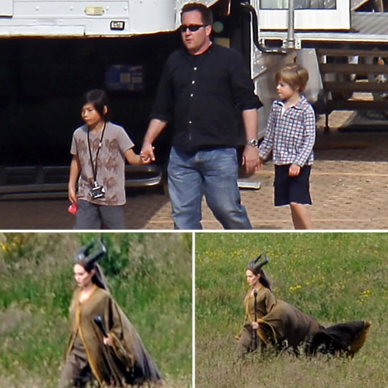 Shiloh and Pax Get a Turn Visiting Mom Angelina on Set