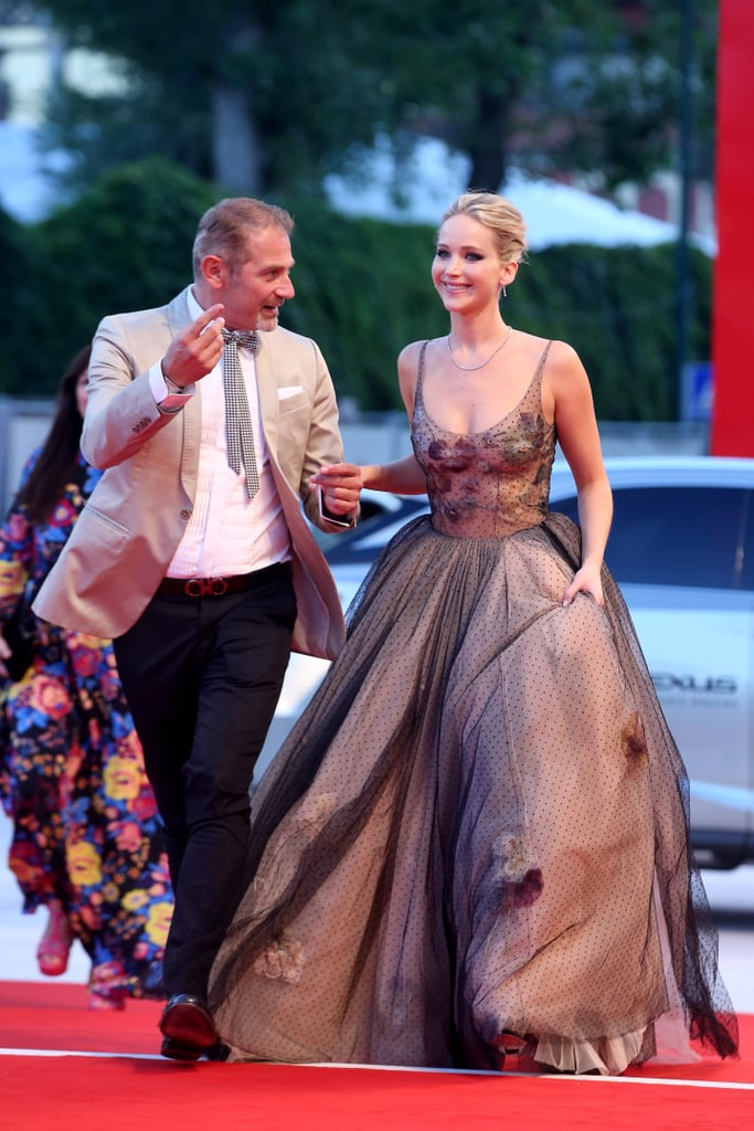 Jennifer Lawrence Knew Getting Around in This Gown Wouldn't Be Easy, but She Wore It Anyway