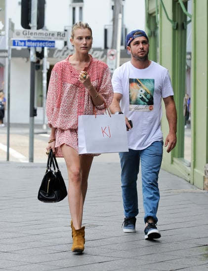 Model Dree Hemingway Shops in Sydney's Paddington Intersection Wearing Isabel Marant