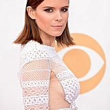 Kate Mara tried on the wet hair look letting the ends flare out, while her eye makeup was accented with a touch of bronze eyeshadow.
