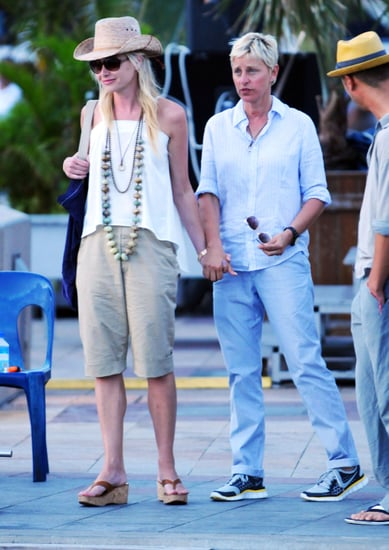 Pictures of Ellen DeGeneres and Portia de Rossi on Vacation in St. Barts