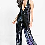 Boohoo Lois All Over Sequin Halter Neck Jumpsuit