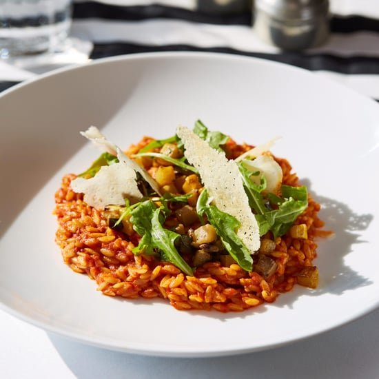Risoni With Mediterranean Vegetables, Parmesan Crisp, Rocket