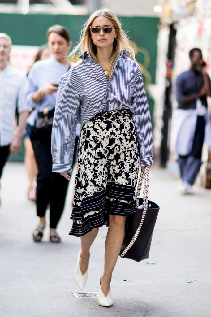Oversized Shirt Trend Street Style Pictures Popsugar Fashion Australia