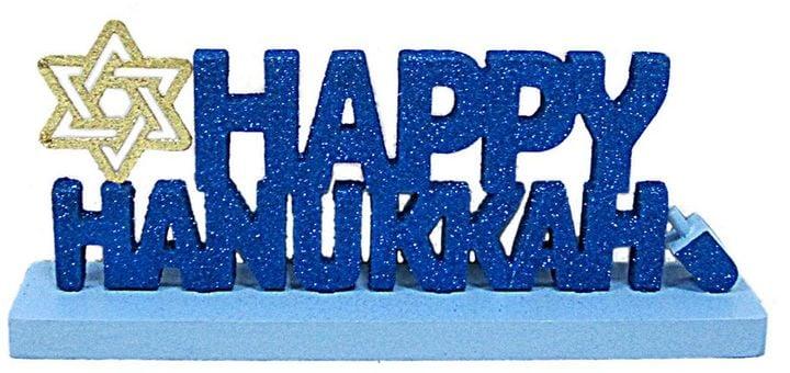Happy hanukkah table decor 25 24 hanukkah home for Hanukkah home decorations