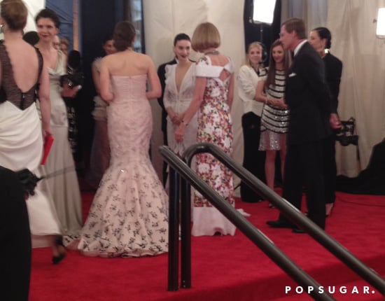 Anna Wintour and her daughter, Bee Shaffer, greeted cochair Rooney Mara early in the evening.