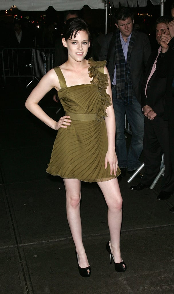 Stewart's frothy Valentino minidress looked absolutely stunning against her porcelain skin for an NYC screening of New Moon in 2009.