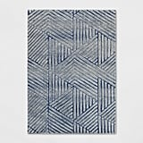 Tufted Viscose/Wool Geometric Area Rug