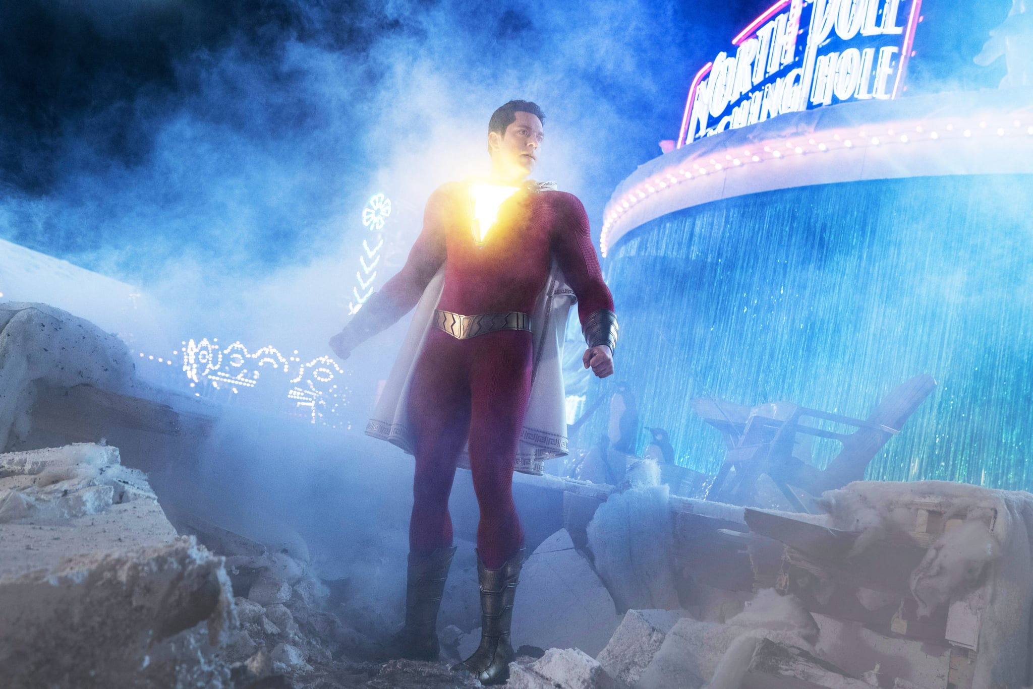 SHAZAM!, Zachary Levi (as Shazam), 2019. ph: Steve Wilkie /  Warner Brothers / Courtesy Everett Collection