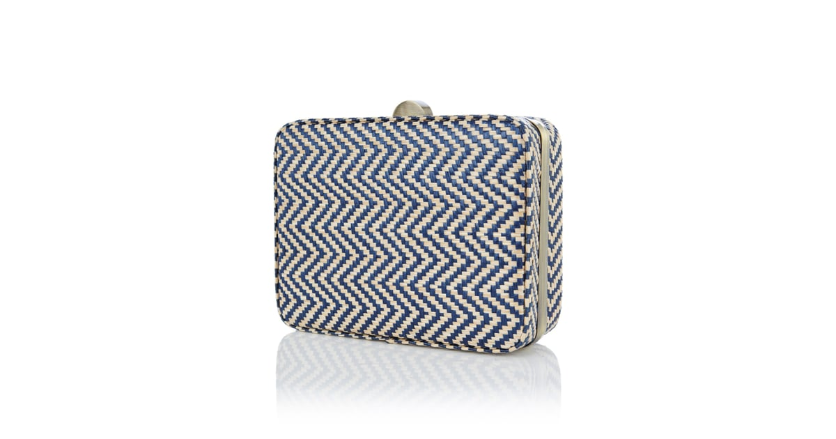 3966b2b9d13b Nantucket raffia meets nautical chevron in this two-in-one bag. | British  Brands Oasis and Warehouse Launch US Shopping Site | POPSUGAR Fashion Photo  3