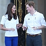 They shared a sweet moment when they greeted the Olympic Torch at Buckingham Palace in July 2012.