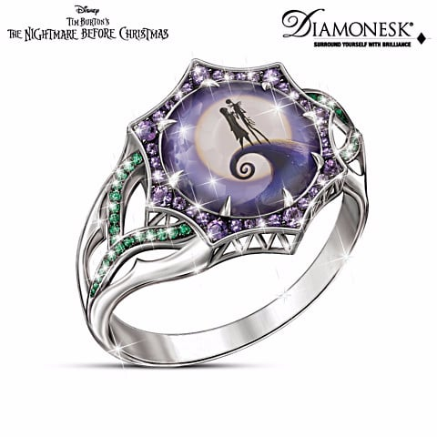 sterling silver the nightmare before christmas magic at midnight ring - Nightmare Before Christmas Wedding Rings