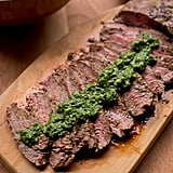 Grill Pan Flat Iron Steak With Chimichurri Sauce