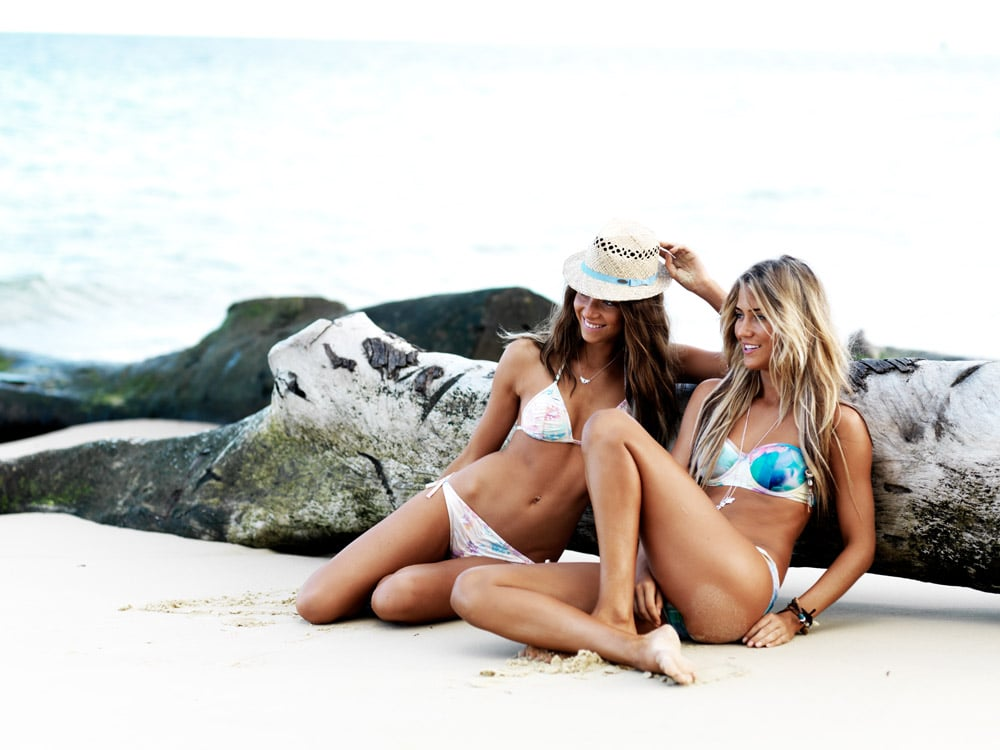 From left, Grace hat, $25.99 and Venice Beach bikini, $79.99