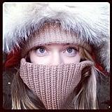 Victoria's Secret model Lindsay Ellingson was barely recognizable as she bundled up against the cold weather in NYC. Source: Instagram user lindsellingson
