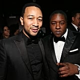 John Legend and Jadakiss attended the Hip-Hop Inaugural Ball Sunday evening.