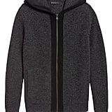 Waffle-Knit Sweater Hoodie