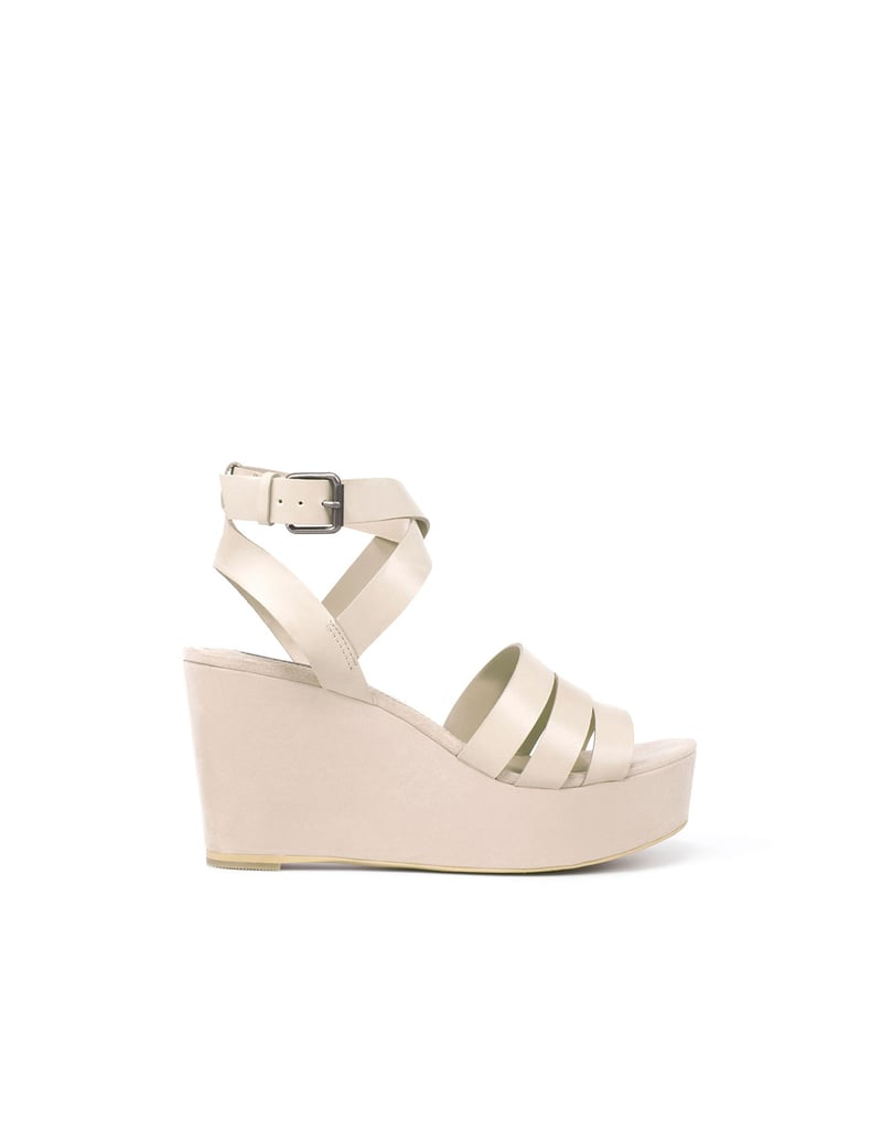 These white wedges would look great with a floral dress.  Zara TRF Lined Wedge ($50)