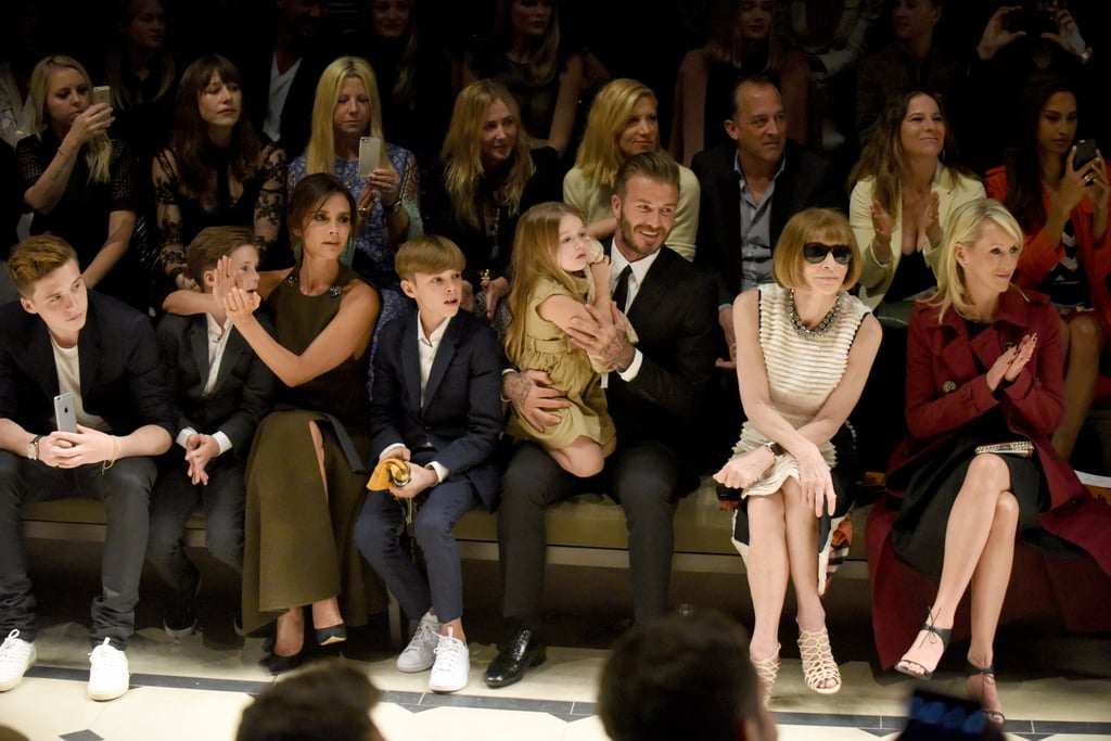 The whole family sat front row to support Burberry designer | Best ...