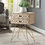 Linon Home Macon Accent Table in Natural
