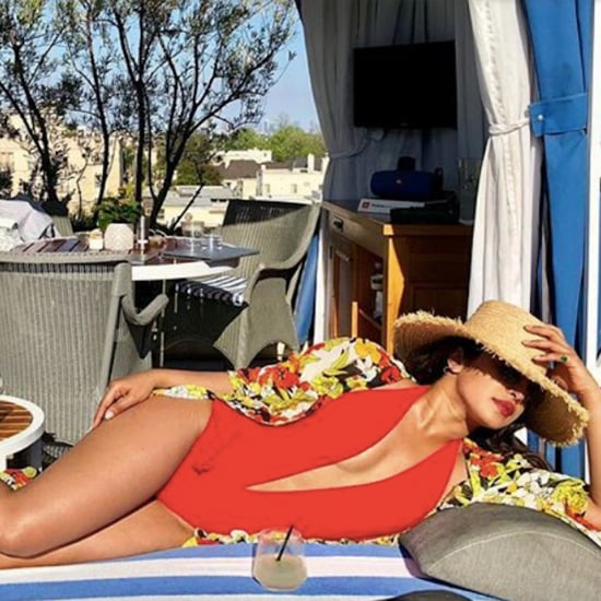 Priyanka Chopra Red Swimsuit