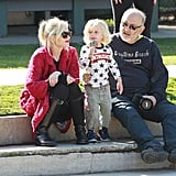 Gwen Stefani hung out with her father and youngest son, Zuma.