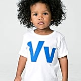 Helvetica Alphabet Infant Sheer Short Sleeve T-Shirt ($12)