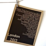 London 2012 Typographical Sports Art