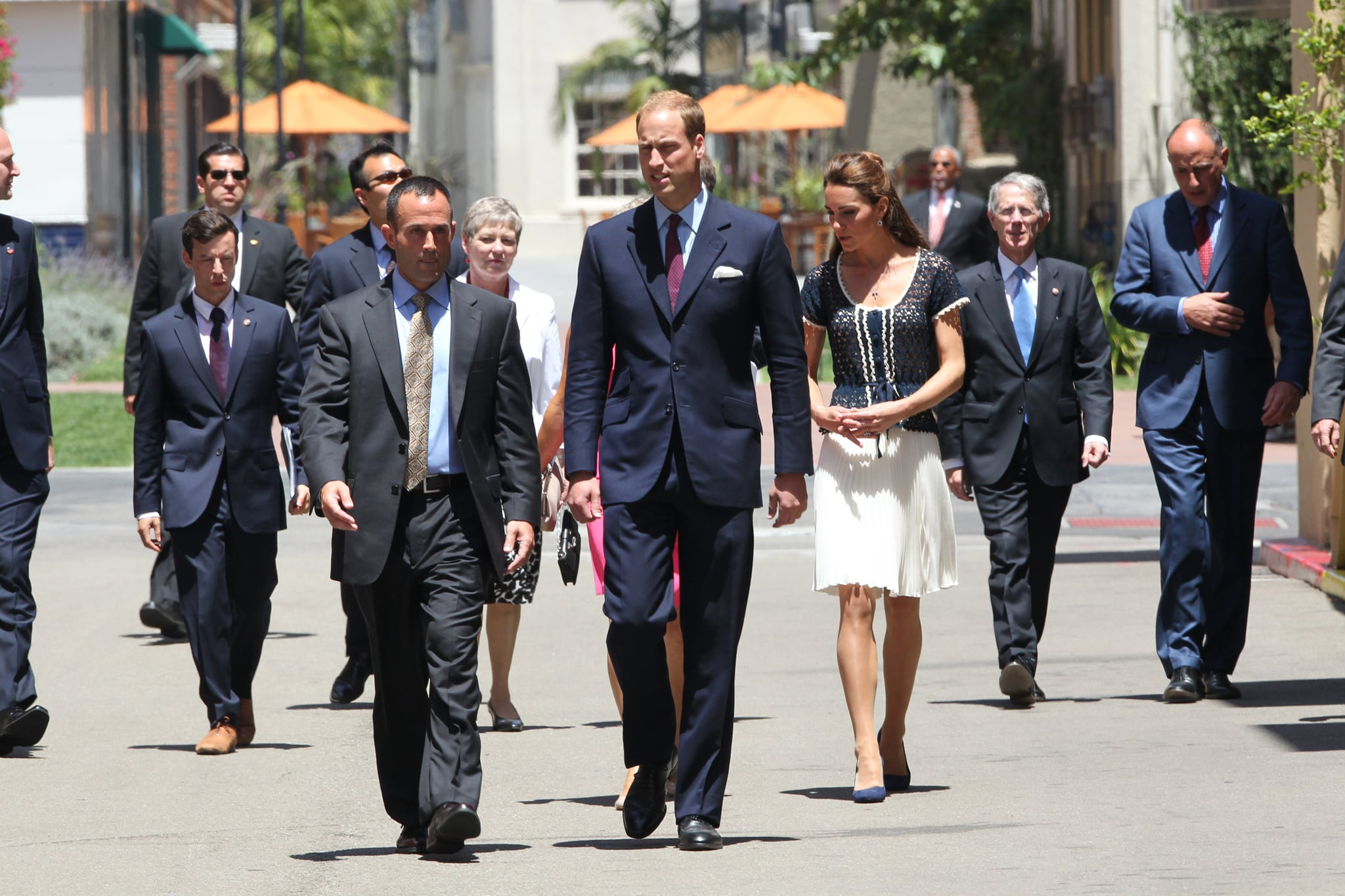 Kate Middleton and Prince William arriving at ServiceNation event in LA.