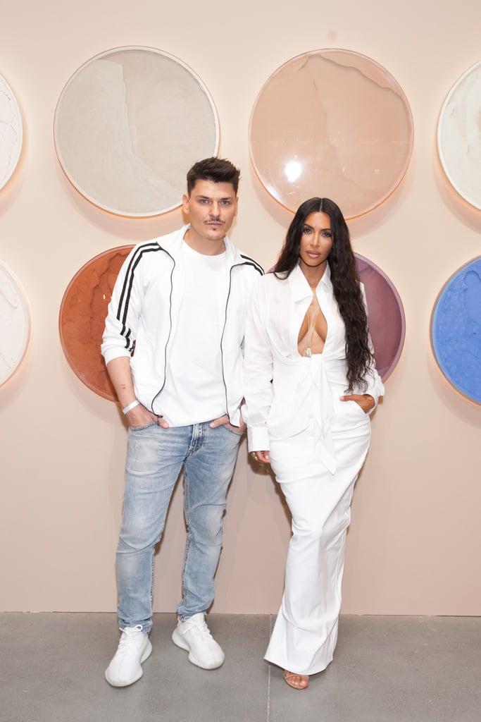 Kim Kardashian's White Shirt and Skirt June 2018