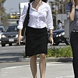 Jennifer Garner wore a pair of black high heels in LA.