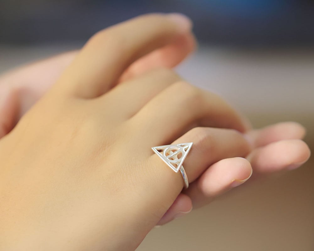 Sterling Silver Triangle Ring ($32)
