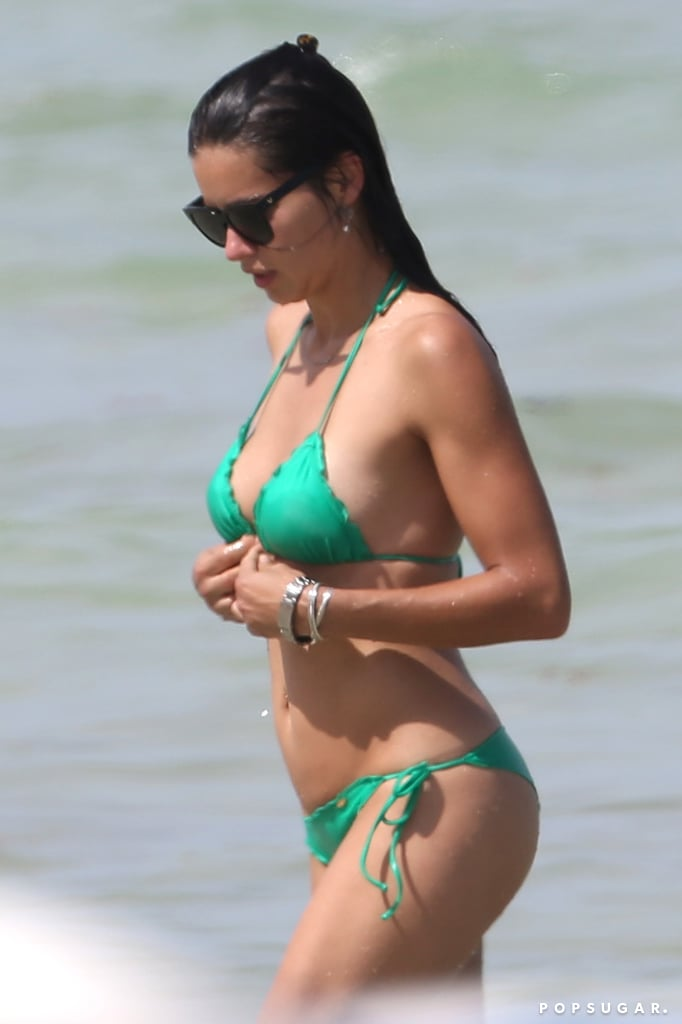 Adriana Lima Wears a Bikini in Miami Beach 2014 | Pictures